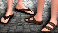 Sandals and leather shoes for gay lovers